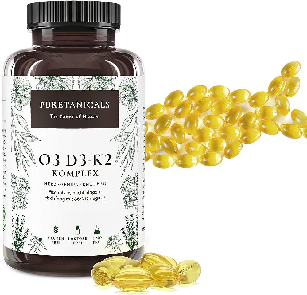 Integratore omega 3 + vitamina d3 + k2 mk7