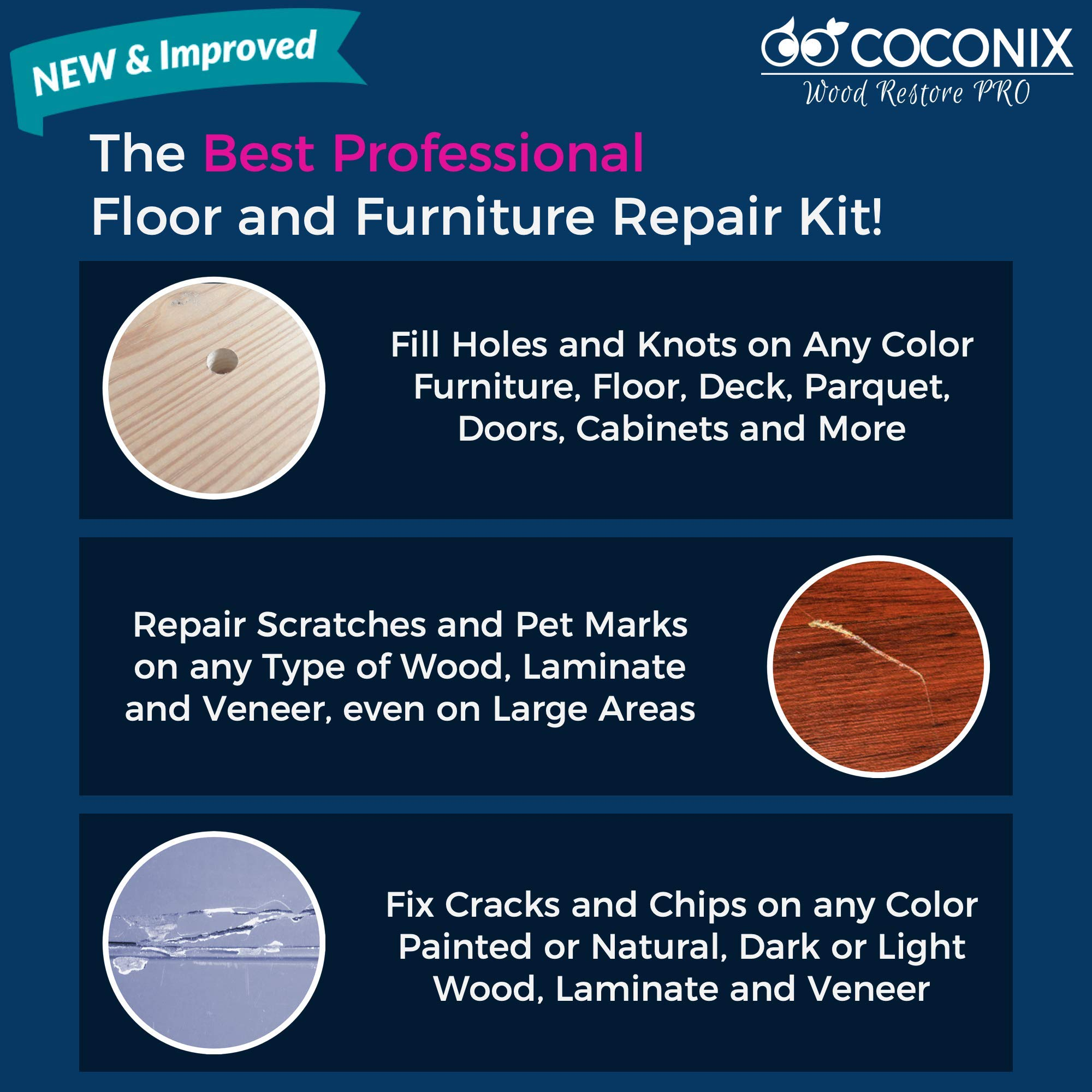 Coconix Wood Restore PRO - Professional Floor & Furniture Repair Kit by Coconix (Image #2)