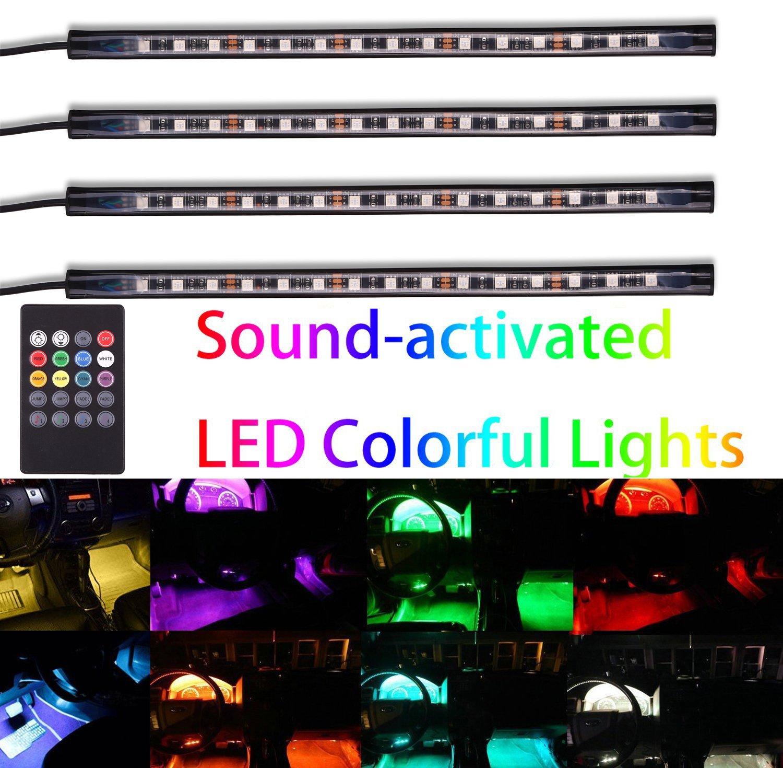amazon com gd lighting 4pcs multi color 7 color led interior