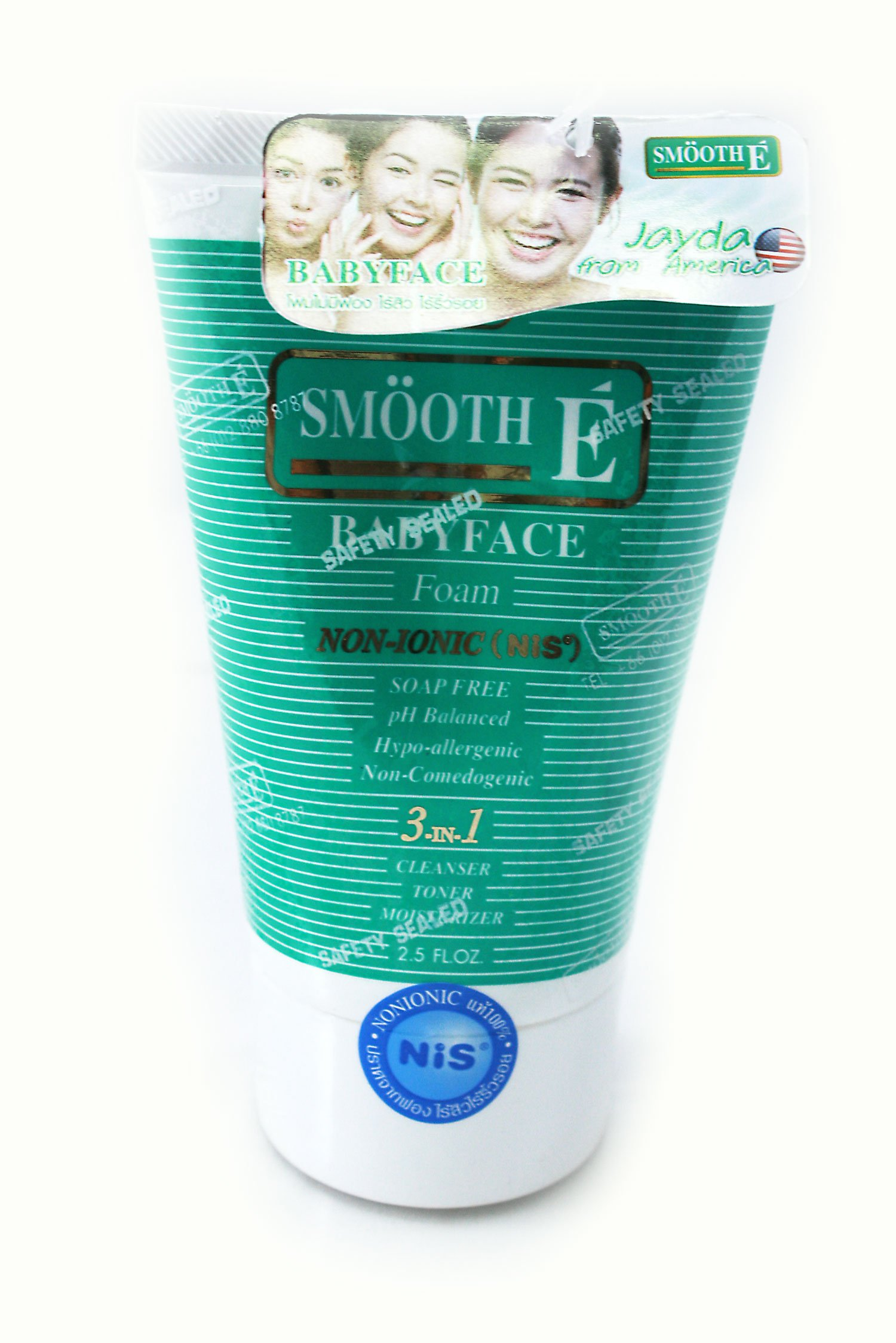 Smooth E Babyface Foams Non_ionic Facial Cleanser for Men and Women Net wt. 2.5 FL.OZ.
