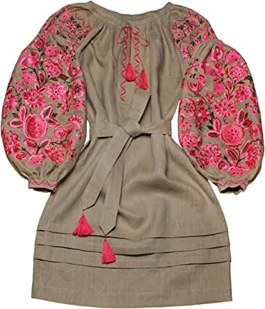 "Plahta Embroidered Boho Style Dress ""The Miracle Tree"" (XX"