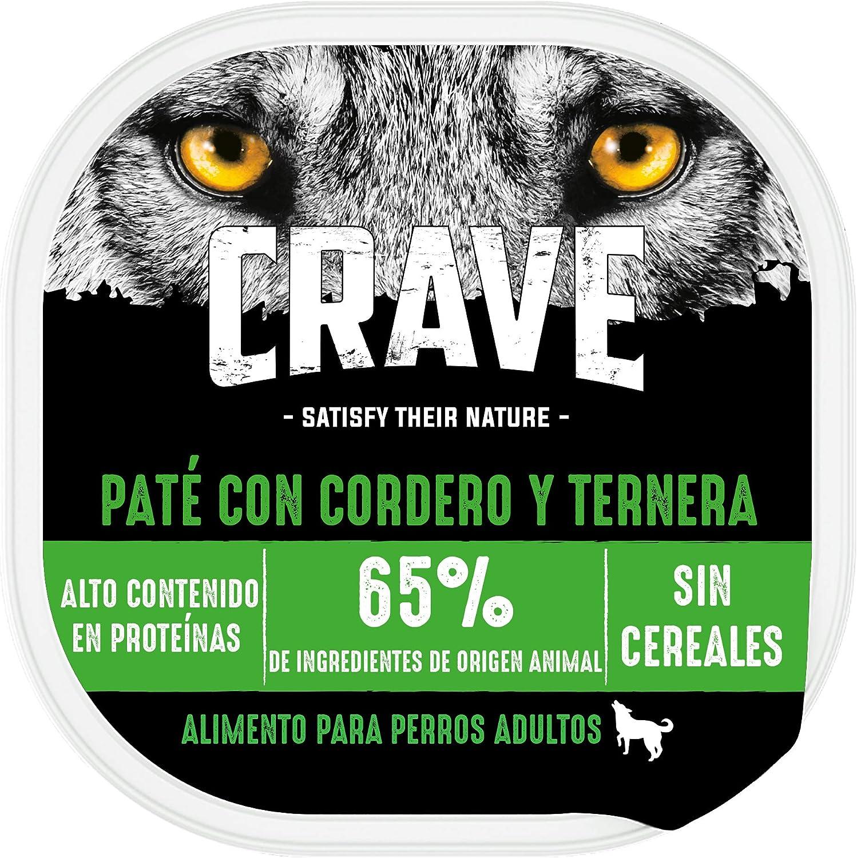 Crave Comida Húmeda para Perros Adultos Sabor Cordero y Ternera (Pack de 10 x 300g)