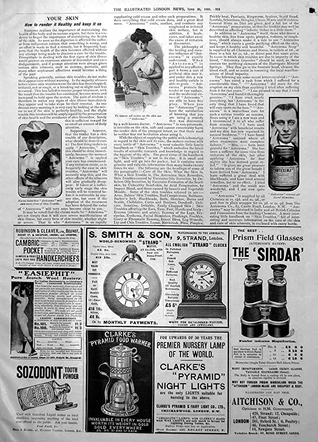 Amazon.com: old-print Fete Austrian Embassy Paris Gilette Razor Antexema Skin Sozodont1906 994P228: Posters & Prints