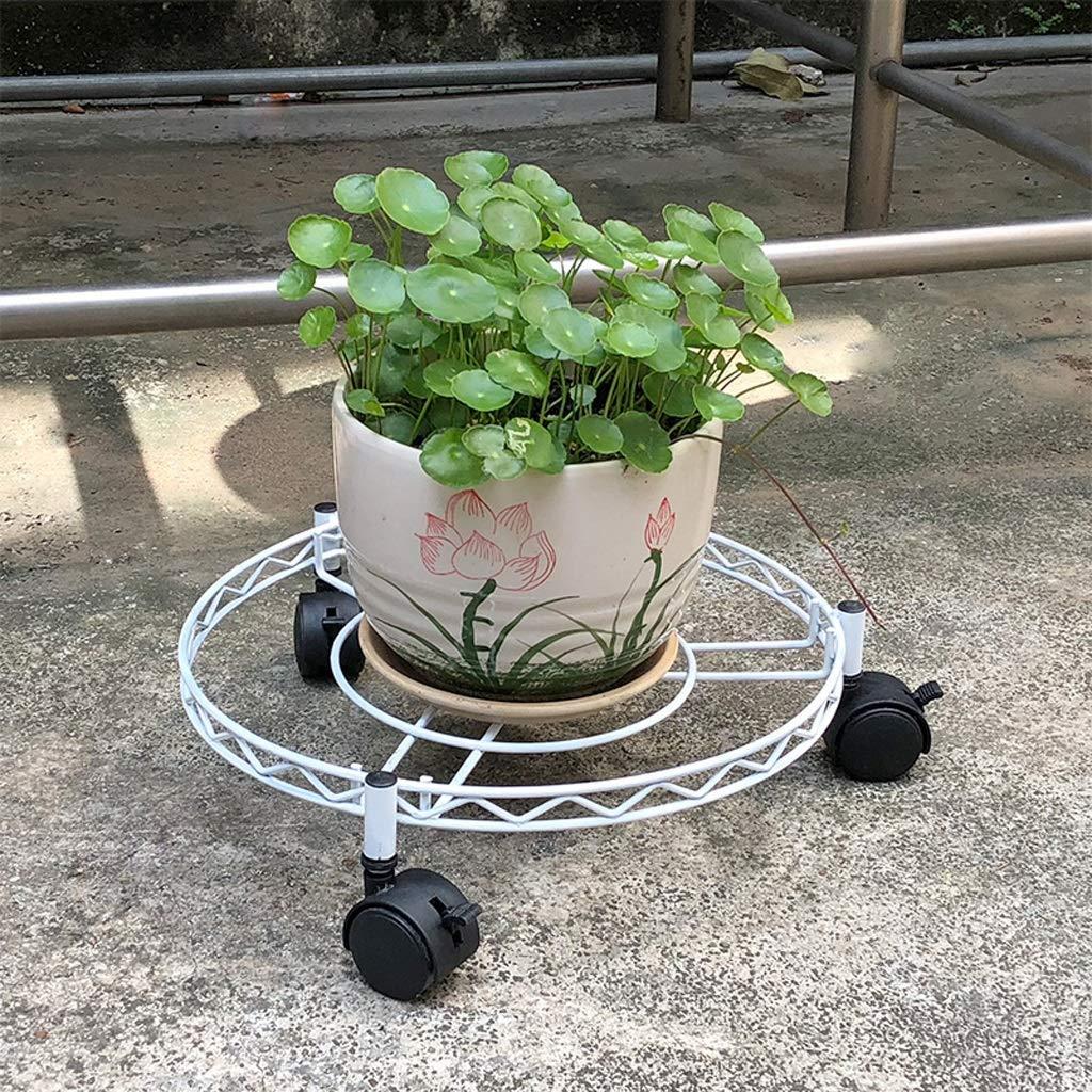 GYAO-Scaffali porta piante Vaso di Fiori in Ferro battuto scaffale Mobile Vassoio a Scomparsa Base Rullo a rulli Ruota Universale casa all'aperto Vaso di Fiori cremagliera