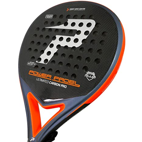 Pala Power Padel Ultimated Carbon Pro Silver / Orange Mate ...