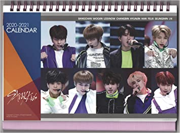 Stray Kids Kpop Desk Calendar with Key Ring and Mini Photo Cards