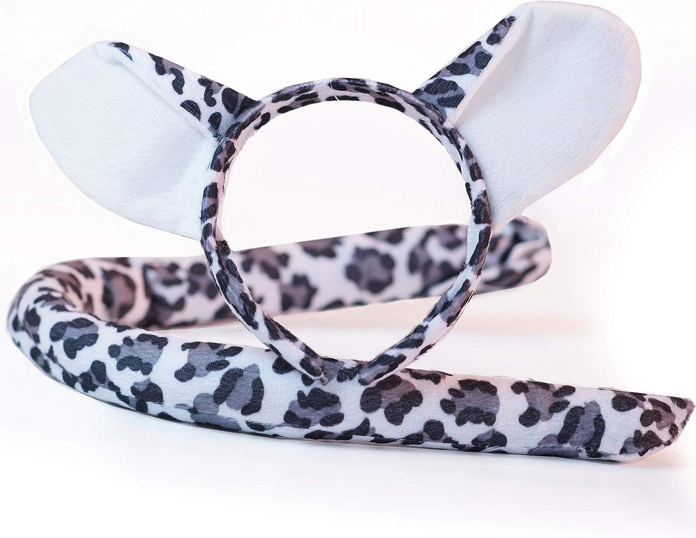 Snow Leopard luxury shag faux fur ears tails /& sets 2 sizes