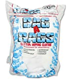United Facility Supply Bag-A-Rags Reusable Wiping Cloths, Cotton, White, 1 Pound Pack (N250CW01)