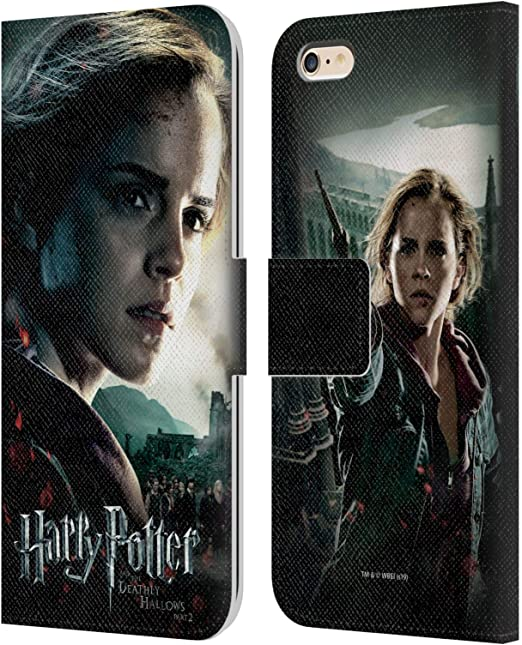 Head Case Designs Officially Licensed Harry Potter Hermione Granger Deathly Hallows VIII Leather Book Wallet Case Cover Compatible with Apple iPhone 6 ...