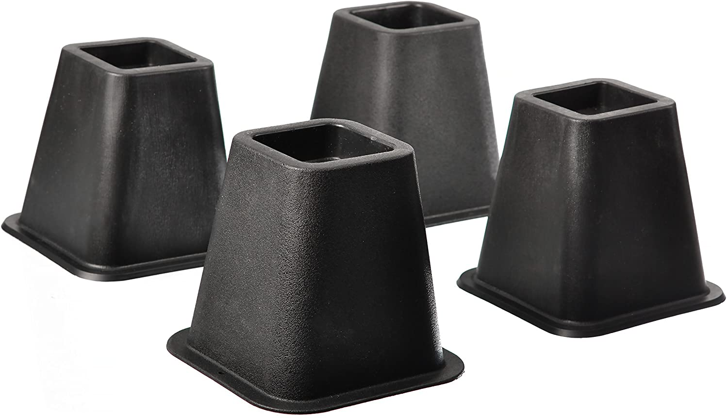 Home-it 5 to 6-inch SUPER QUALITY Black bed risers, helps you storage under the bed 4-pack (Black): Home & Kitchen