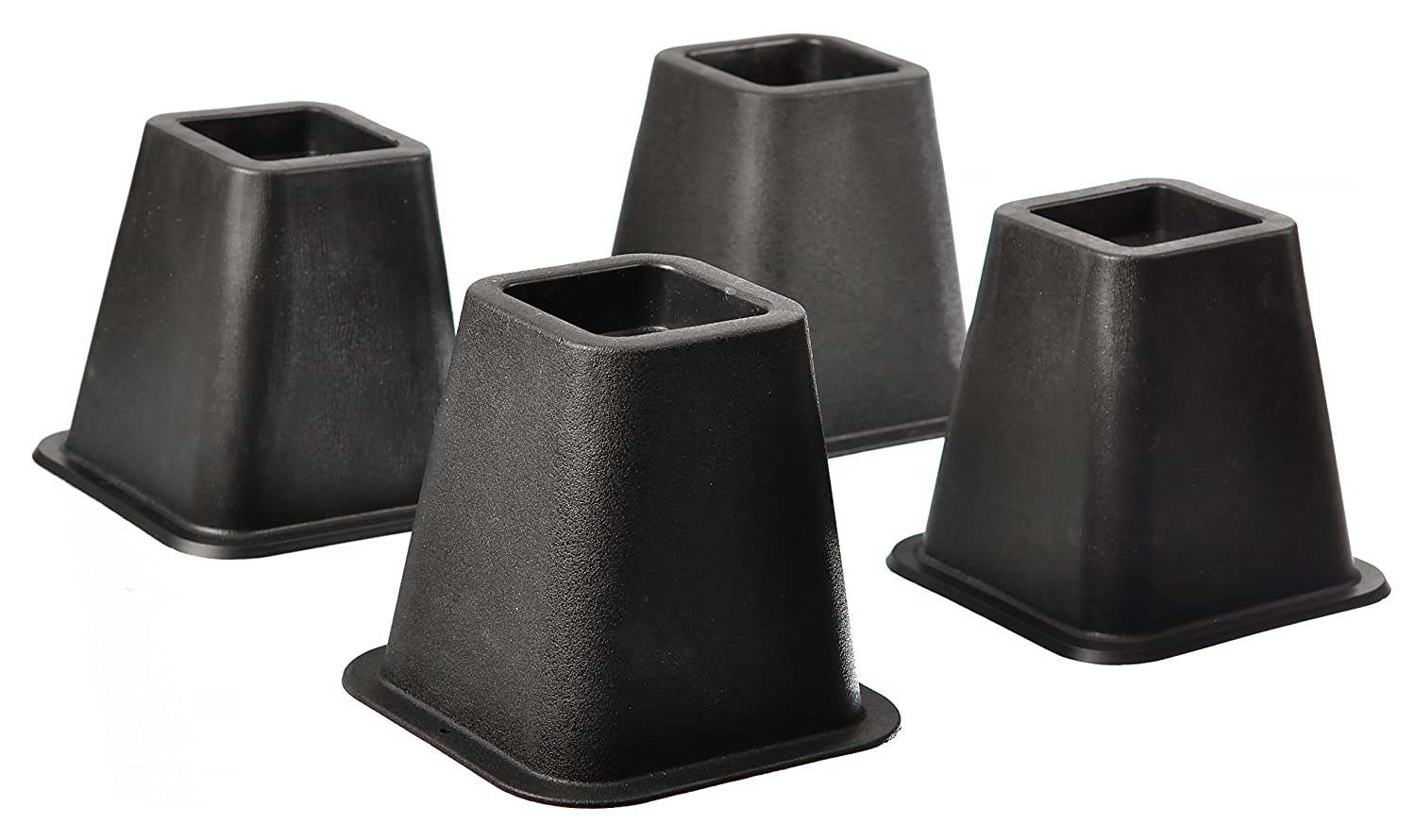 Amazon Com Home It 5 To 6 Inch Super Quality Black Bed Risers
