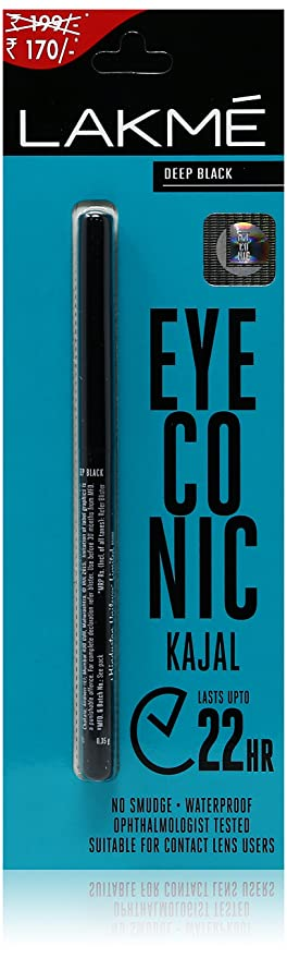 Lakme Eyeconic Kajal, Deep Black, 0.35g-Best-Popular-Product