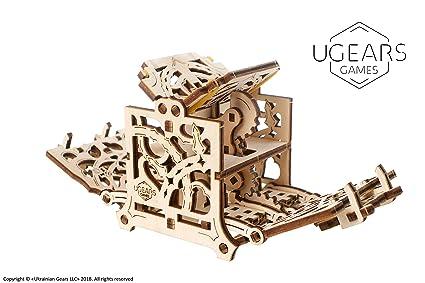 UGEARS Modelo Mecánico Puzzle 3D - Caja para Dados - Caja de Madera Estuche Funda de Transporte para 8 Dados - Maquetas para Construir Adultos para ...