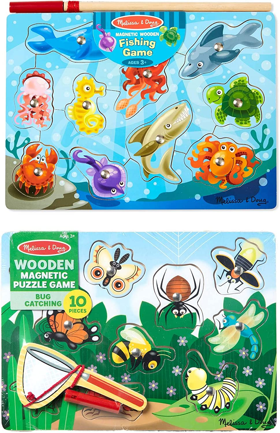 Melissa & Doug Fishing And Bug Catching Magnetic Game Bundle