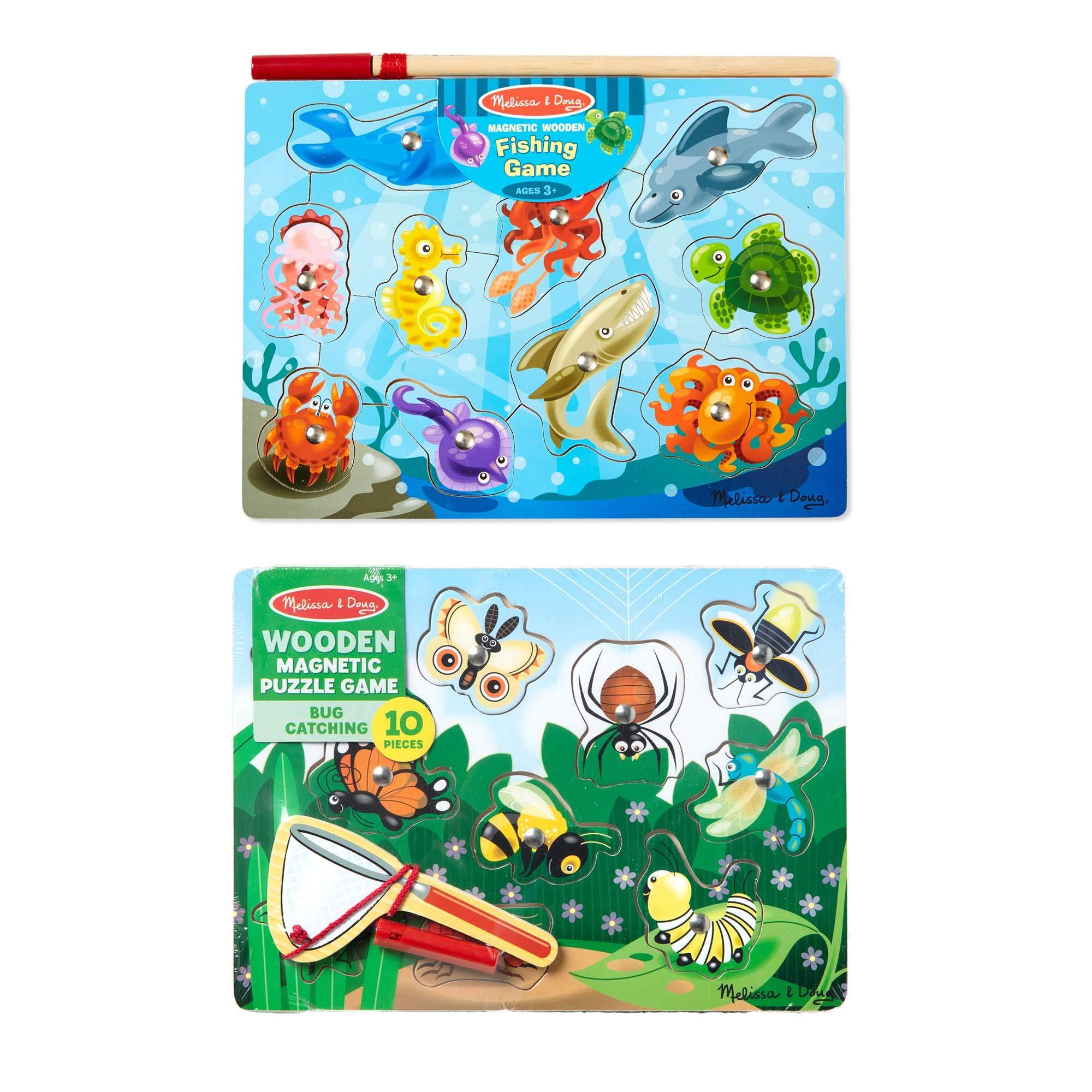 Melissa & Doug Fishing And Bug Catching Magnetic Game Bundle