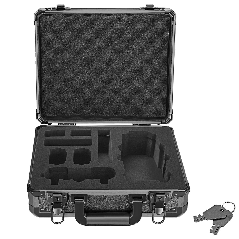 Neewer DJI Mavic Pro Drone Case, Aluminum Hardshell Carrying Case Bag Suitcase for DJI Mavic Pro Drone Foldable Quadcopter Drone and Accessories, 3.86 pounds/1.75 kilogram, Black 10090224