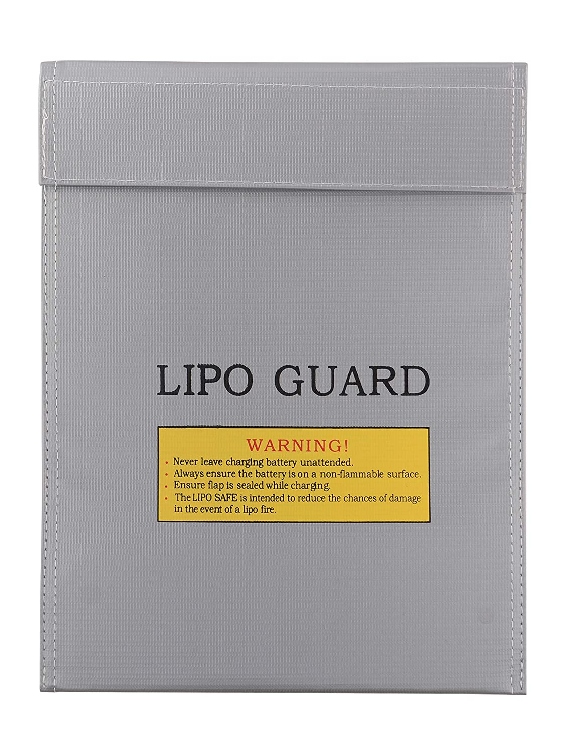 Silver Fire Resistant Flame-Resistant Fireproof Explosion-Proof Waterproof Lipo Battery Storage Guard Pouch Sleeve Safety Protective Bag for Safe Charge /& Storage 12 x 9 Inches Large Size