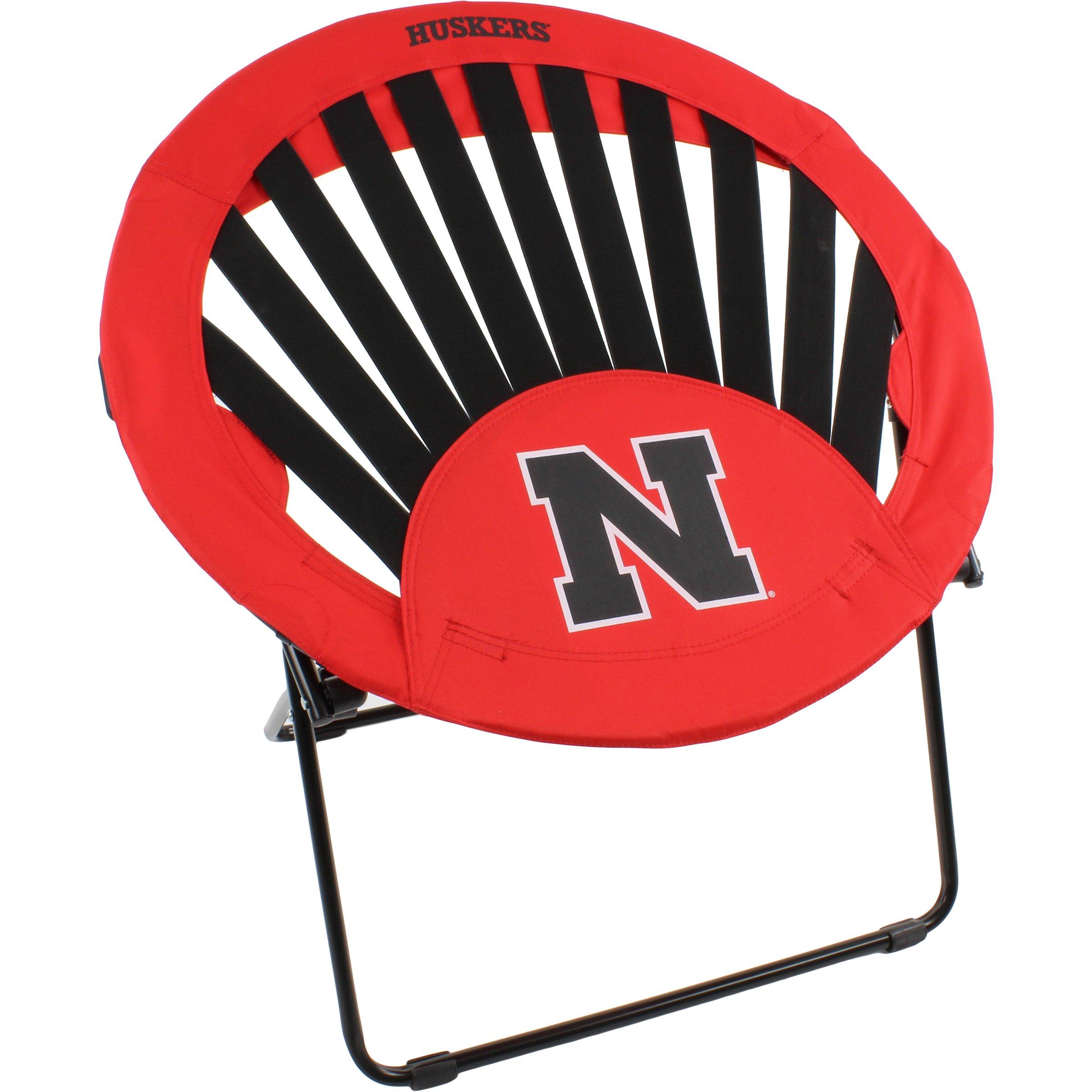 College Covers Nebraska Cornhuskers NCAA Rising Sun Bungee Chair