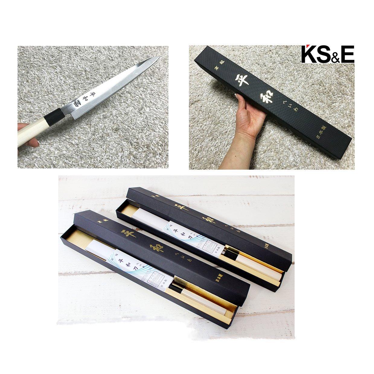 KS&E Hasegawa Stainless Steel Right Handed Japanese Knife, Filet Knife Fish, Asian, Yanagi Sushi Sashimi Knife (8.5-inch(210mm) Right Handed Yanagi) by Peace (Image #6)
