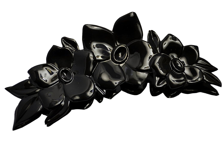 Shiny Black Jaw Clip Claw Hair Clip Girls Pretty Hair Accessory w//Ridged Design