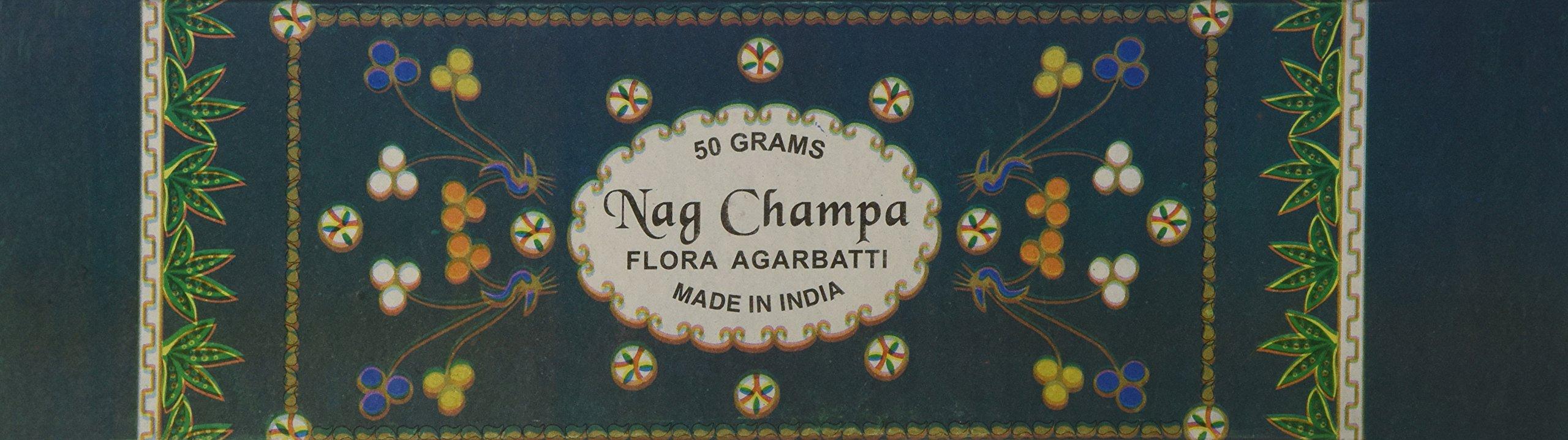 Flora Nag Champa Incense - 50 Gram Box - From Flora Agarbatti In India