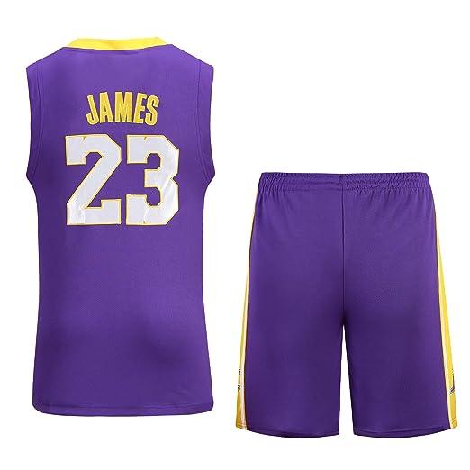 NBA Lakers Jersey No. 23 James Male Basketball Traje de Ropa ...
