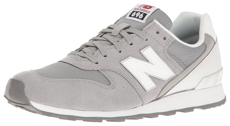 New Balance Women's WL696 Classics Sneaker B01FSIFLEI 5.5 B(M) US|Grey/White