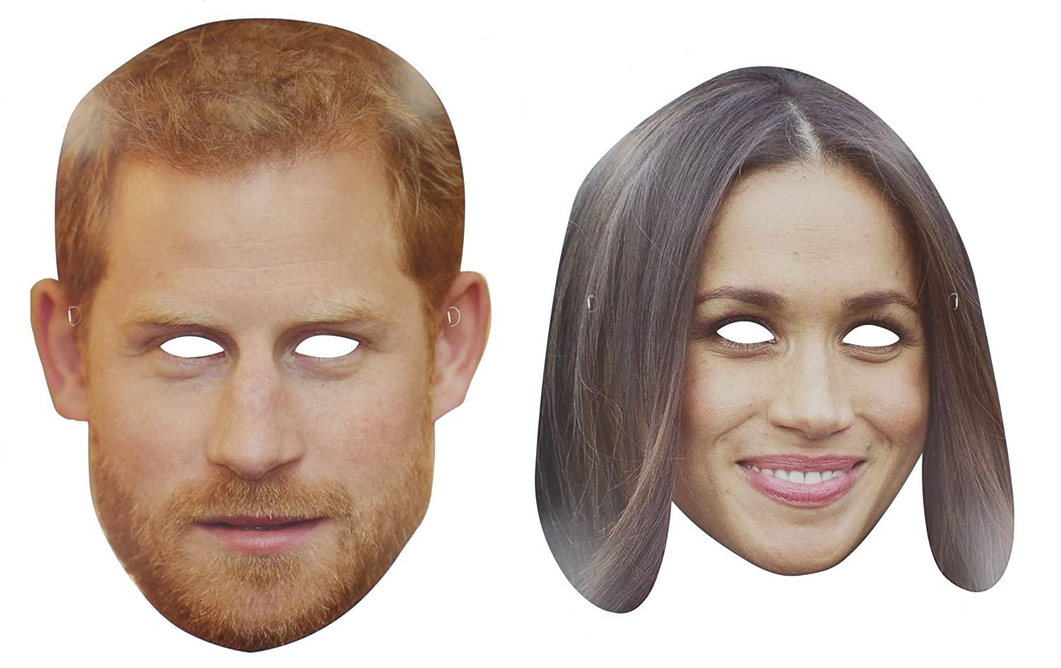 Prince Harry Meghan Markle Royal Wedding Party Celebrity Card Face Mask