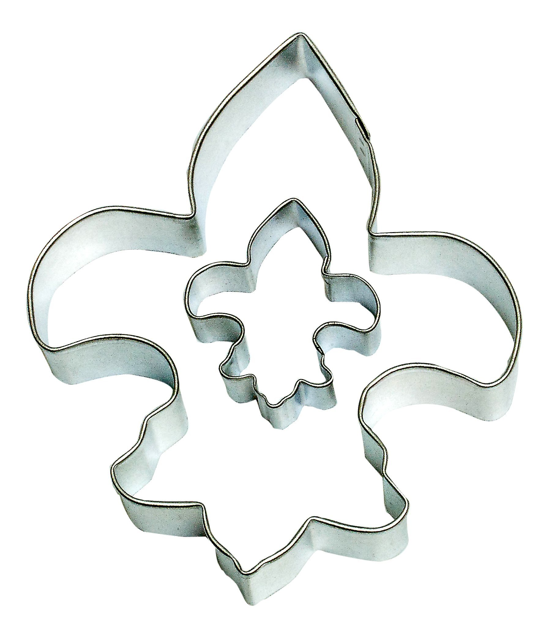 Cybrtrayd Parent/Child Cookie Cutter Set, 4.5-Inch, Fleur De Lis