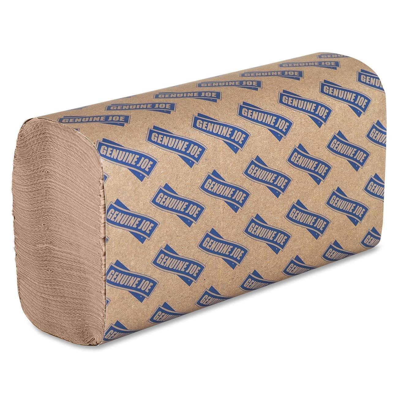 Genuine Joe GJO21040 Multifold Natural Towels, 9.25'' x 9.40''