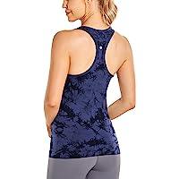 CRZ YOGA Seamless Athletic Tank Tops for Women Racerback Workout Shirts Running Activewear Yoga top