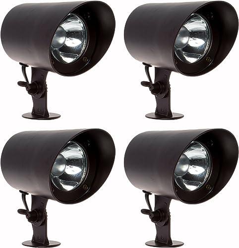 GreenLighting 4 Pack 100 Lumen Aluminum Low Voltage Outdoor Spotlight Bronze