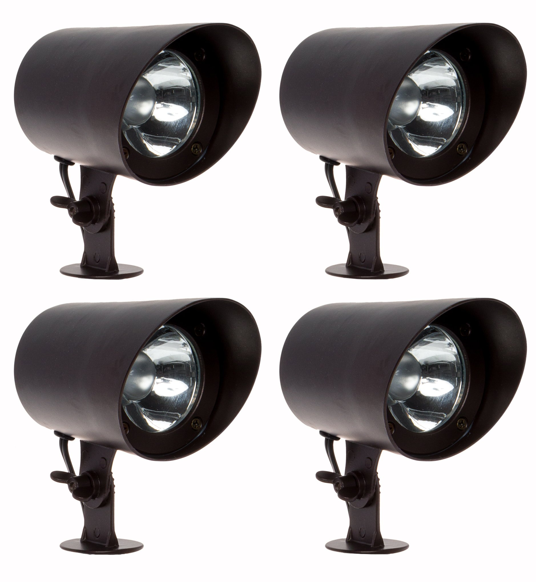 GreenLighting 4 Pack 100 Lumen Aluminum Low Voltage Outdoor Spotlight (Bronze)