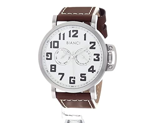 Amazon.com: ROBERTO BIANCI WATCHES Mens Baldini Stainless Steel Quartz Watch with Patent Leather Strap, Brown, 23.6 (Model: RB54431: Watches