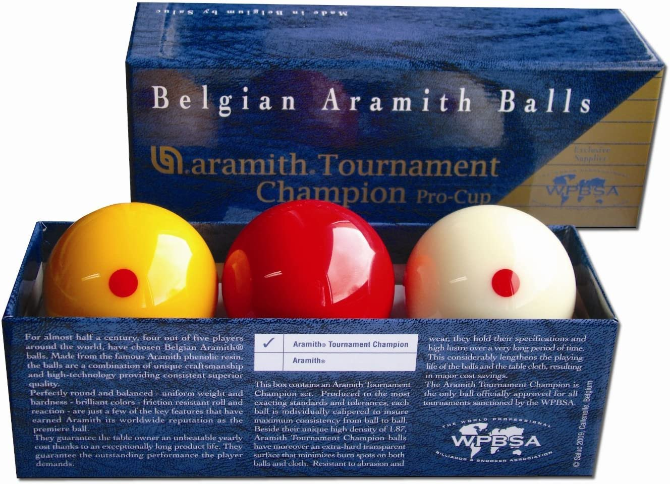 Aramith Tournament Pro Cup Champion Bolas de billar: Amazon.es: Deportes y aire libre