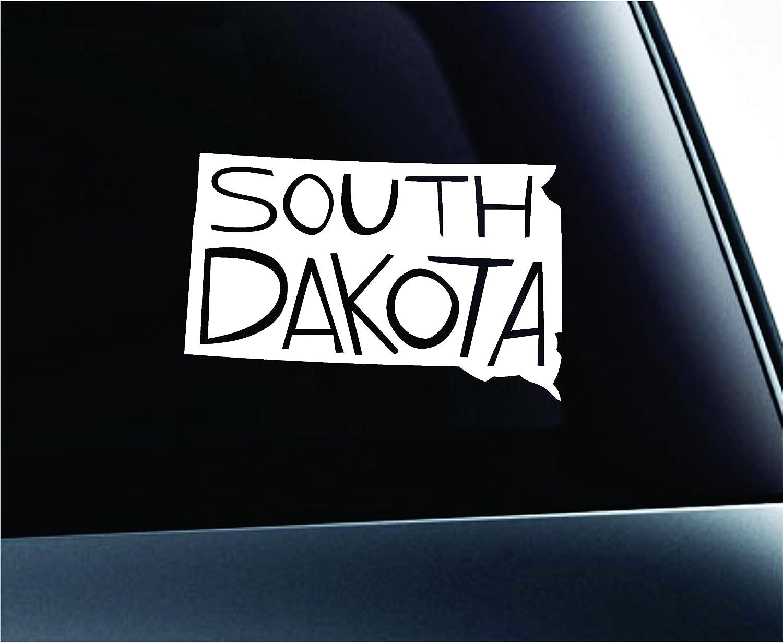 サウスダコタ州状態名シンボルデカール面白い車ステッカーウィンドウ ホワイト ExpressDecor  ホワイト B00WIKBJFA