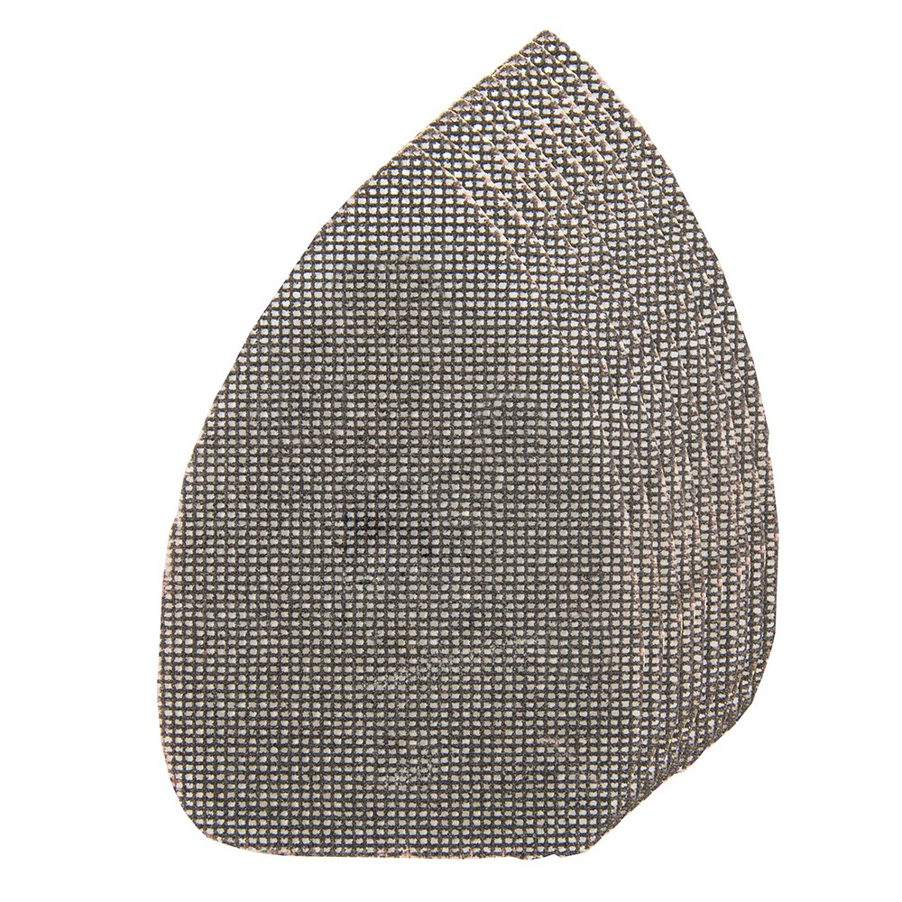 Silverline 519187 Lot de 10 triangles abrasifs treillis auto-agrippants 140 x 100 mm grains assortis