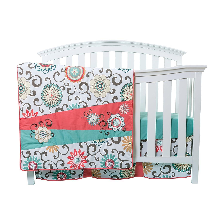 Amazon Trend Lab Waverly Pom Pom Play 4 Piece Crib Bedding Set