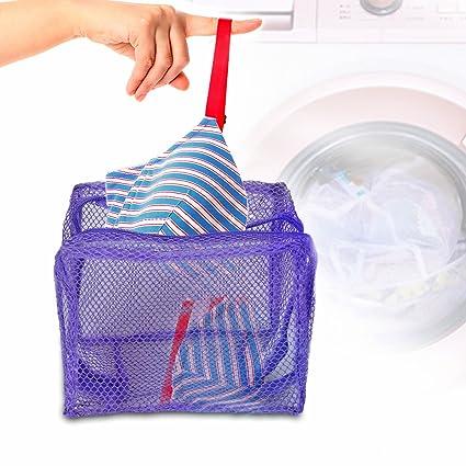 Bolsas de lavandería, Malla Bolsas de lavado con cremallera reutilizable para lavadora Bolsas para Lavadora duraderas para ropa interior, calcetines, ...
