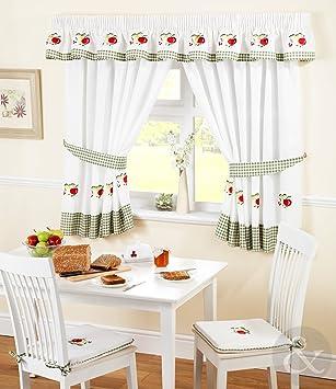 Just Contempo - Juego de cortinas para cocina (117 x 107 cm), diseño ...