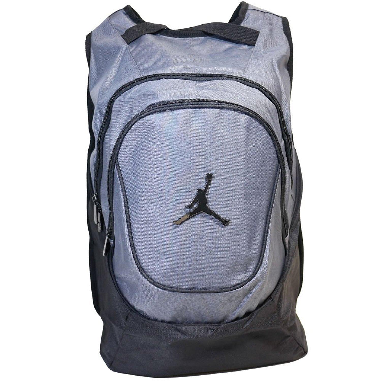 b67714995c Amazon.com  Nike Air Jordan 23 Jumpman Backpack School Bag Laptop  Grey Black  Sports   Outdoors