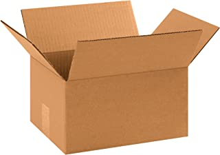 "product image for Partners Brand P1186R Corrugated Boxes, 11 1/4""L x 8 3/4""W x 6""H, Kraft (Pack of 25)"