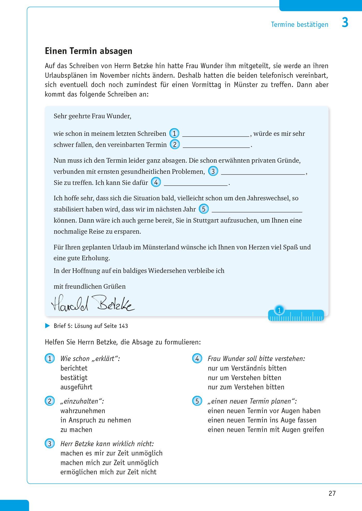 Pons Bürokommunikation Deutsch Musterbriefe Textbausteine Und
