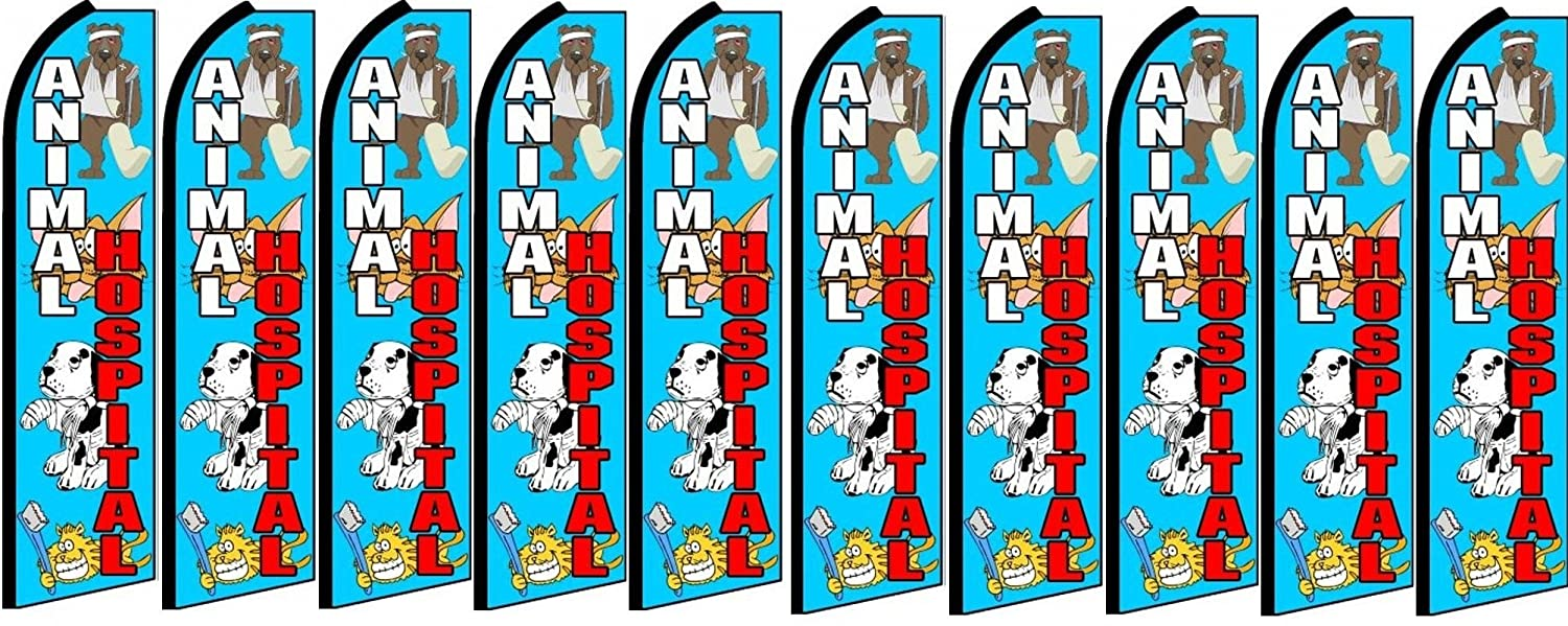 Animal Hospital King Swooper Feather Flag Sign Pack of 10 Hardware not Included