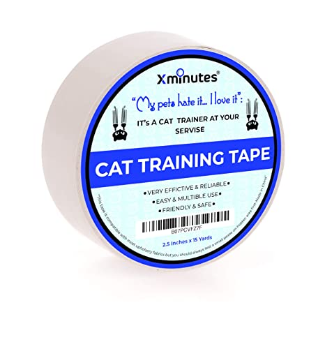 Phenomenal Xminutes Premium Quality Anti Scratch Cat Training Tape 2 5 Inches X 15 Yards Pet Scratch Deterrent Tape Furniture Leather Couch Door Gmtry Best Dining Table And Chair Ideas Images Gmtryco