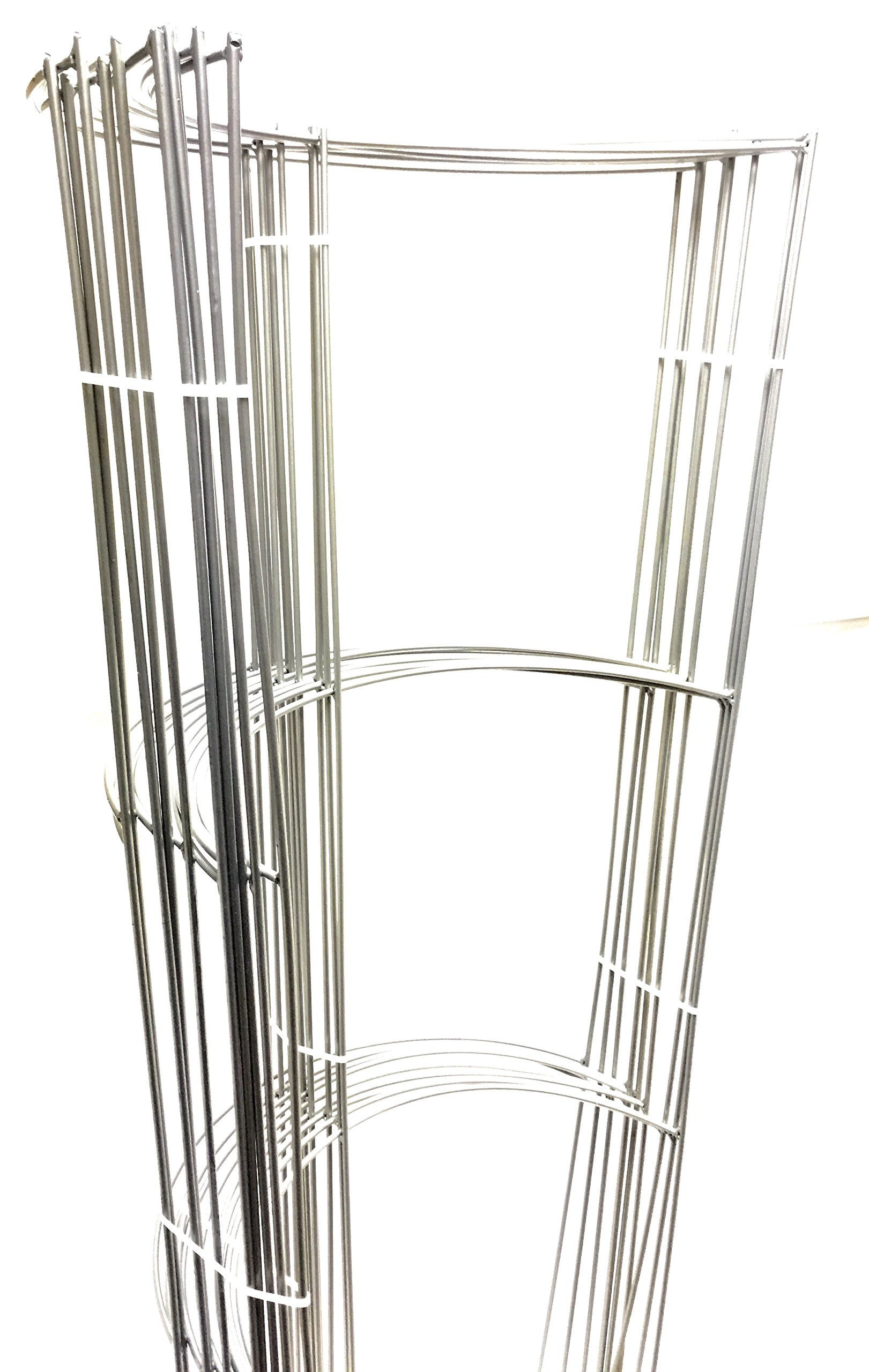 10 Pack - Smart 52'' Tall Heavy Duty opened Half Ring (52'' Tall & 17'' Wide & 3 Half Ring & Long leg) Grow Tomato Cage, Plant Support, Trellis (Silver) by Smart Plants Support