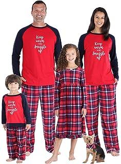 SleepytimePJs Christmas Family Matching Hot Cocoa Winter Flannel Pajama Sets