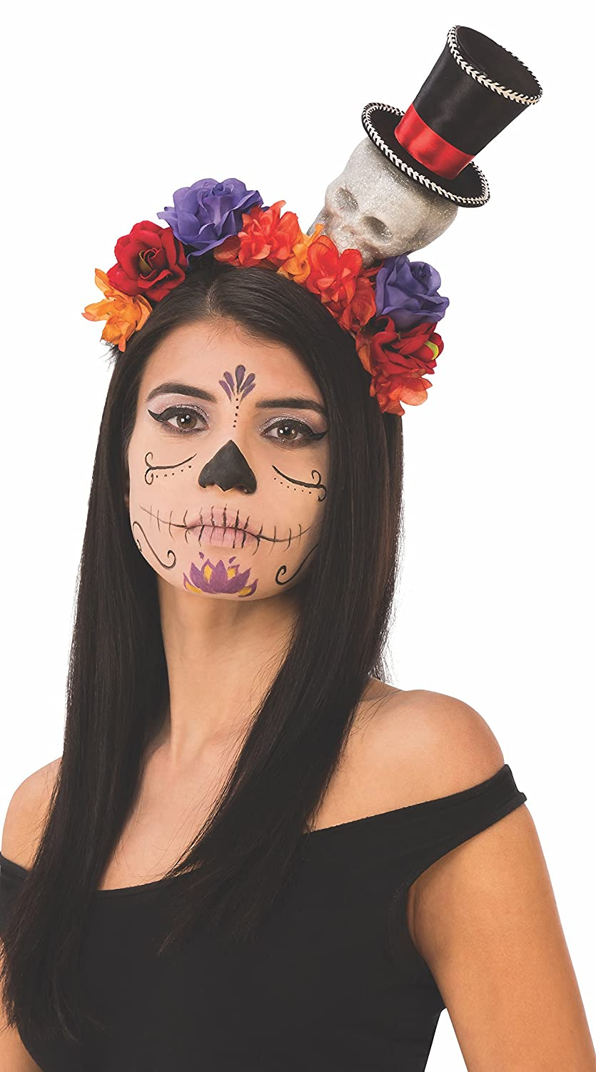 Rubie's Unisex-Adults Day Of The Dead Head Band With Skulls And Flowers, As shown, One Size Rubie' s Costume Co. 38265_NS