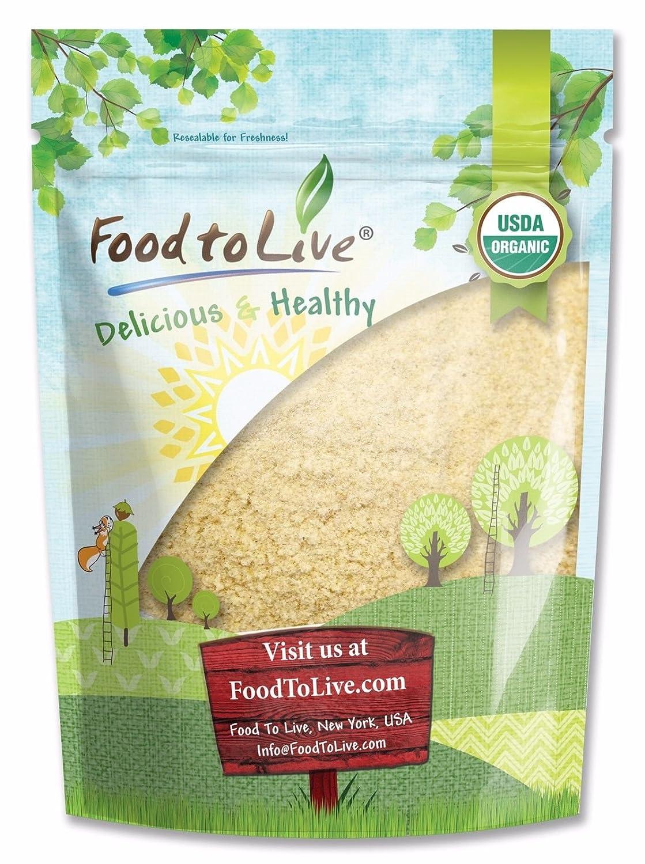Harina de trigo de KAMUT Khorasan con certificado de Food to Live (polvo de piedra molida, harina de grano 100% integral, sin OMG, a granel)