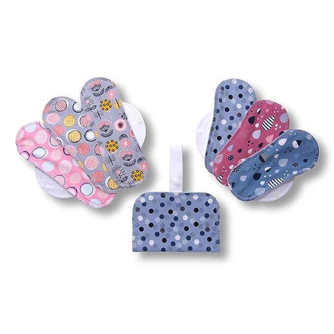 1 opinioni per Assorbenti lavabili mestruale di cotone, in pacchetto da 6 pezzi (di taglia S e